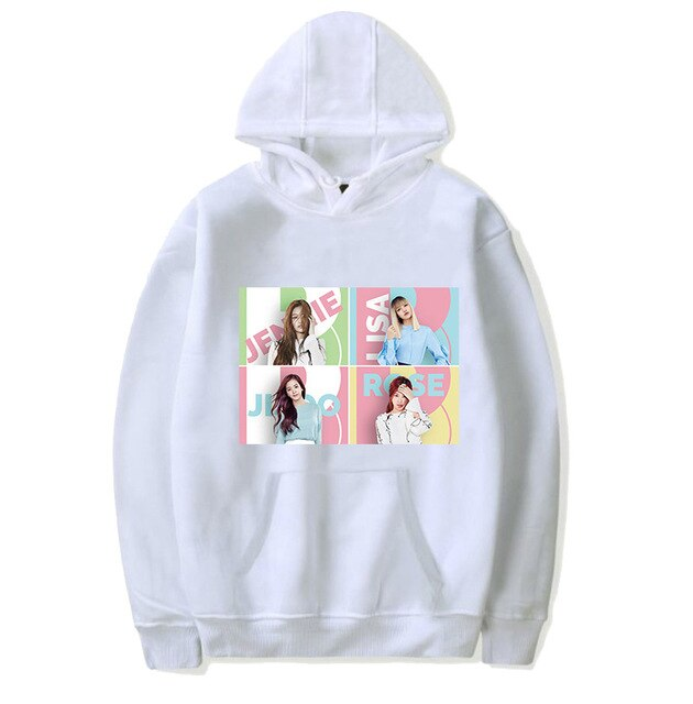 BLACKPINKs JISOO JENNIE LISA ROSÉ Pullovers Kpop DDU-DU DDU-DU WHISTLE KILL THIS LOVE THE ALBUM Hoodie Sweatshirts for Girls