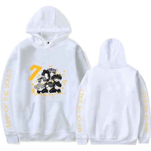 ACEFAST INC Kpop BTS Hoodie Map of The Soul 7 The Journey Sweatshirt V Jimin Suga RM Jhope Jungkook Pullover Sweater