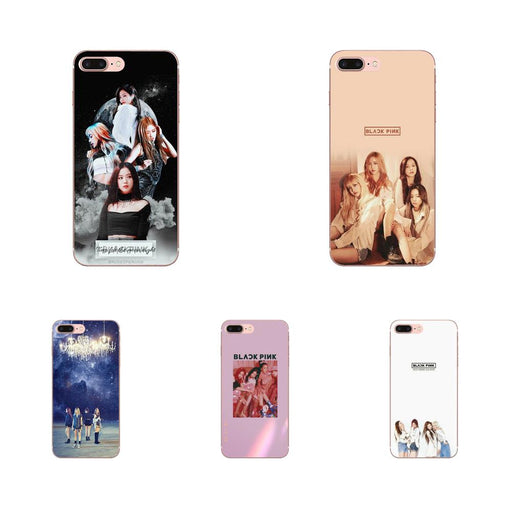 Black Pink Blackpink K-pop Kpop Soft TPU Art Online Cover Case For iPhone