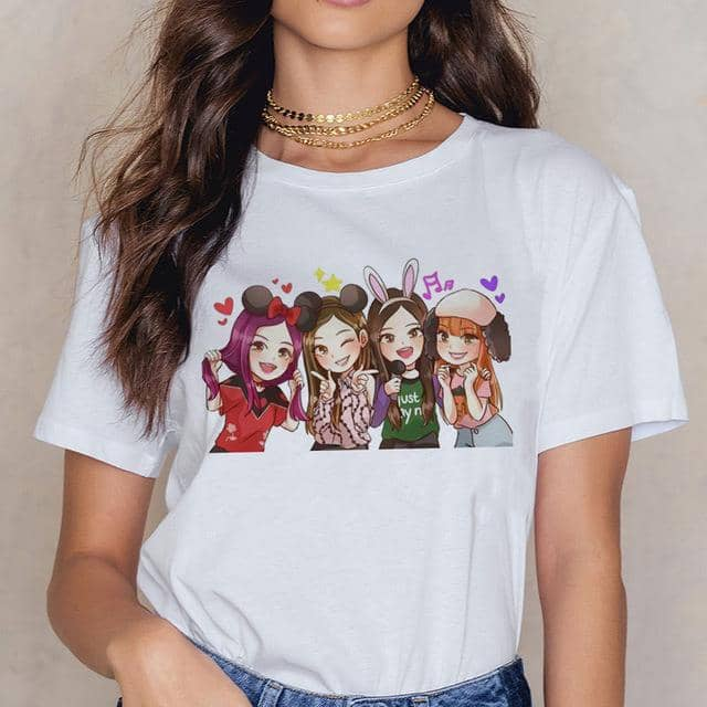 Kpop Newest Blackpink Kill This Love T Shirt Women Harajuku LISA ROSE JISOO JENNIE 90s T-shirt Ullzang Cartoon Tshirt Fashion Top Tee Female that you'll fall in love with. At an affordable price at KPOPSHOP, We sell a variety of Blackpink Kill This Love T Shirt Women Harajuku LISA ROSE JISOO JENNIE 90s T-shirt Ullzang Cartoon Tshirt Fashion Top Tee Female with Free Shipping.