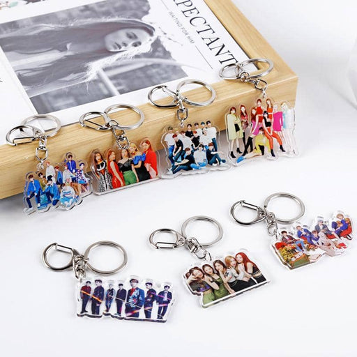 Creative kpop stray kids album photo key chain TWICE TXT REDVELVET Seventeen GOT7 ITZY stray kids kpop stationery set