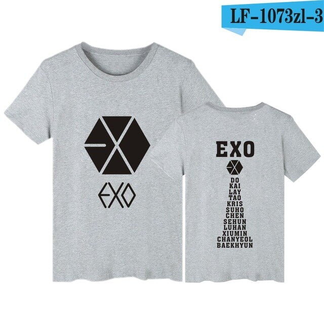 Kpop Newest EXO T-shirts Letter Print T Shirt Women Harajuku O-neck Short Sleeve tshirt women Tops Black White Tee Shirt Femme EXO that you'll fall in love with. At an affordable price at KPOPSHOP, We sell a variety of EXO T-shirts Letter Print T Shirt Women Harajuku O-neck Short Sleeve tshirt women Tops Black White Tee Shirt Femme EXO with Free Shipping.