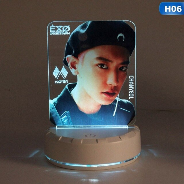 EXO Table Lamp Light Stick LED Night Light Bedside Lamp Lightstick Luminous Stationery Set