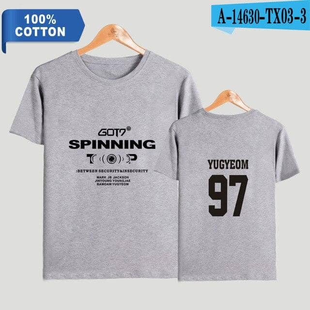 Kpop Newest TOMMY 2019 NEW Kpop GOT7 SPINNING TOP 2D Print 100% Cotton Women/Men Clothes Short Sleeve T-Shirt Hot Sale Casual T Shirt that you'll fall in love with. At an affordable price at KPOPSHOP, We sell a variety of TOMMY 2019 NEW Kpop GOT7 SPINNING TOP 2D Print 100% Cotton Women/Men Clothes Short Sleeve T-Shirt Hot Sale Casual T Shirt with Free Shipping.