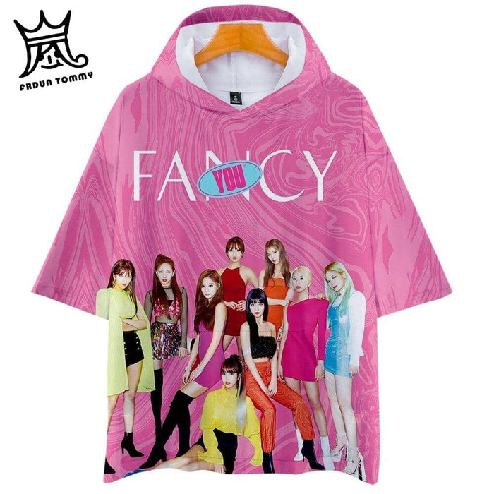 Kpop Newest TOMMY 2019 TWICE New album FANCY YOU 3D Hooded t-shirt Men/Women Harajuku hoodie t shirt Short Sleeve hot sale Clothes that you'll fall in love with. At an affordable price at KPOPSHOP, We sell a variety of TOMMY 2019 TWICE New album FANCY YOU 3D Hooded t-shirt Men/Women Harajuku hoodie t shirt Short Sleeve hot sale Clothes with Free Shipping.