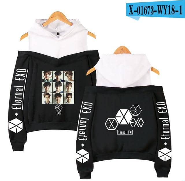 Kpop Newest Fashion Hoodies idol EXO Print kpop Harajuku Off Shoulder Hoodie Sweatshirt Women 2019 Hot Sale Casual Autumn Ladies  Streetwear that you'll fall in love with. At an affordable price at KPOPSHOP, We sell a variety of Fashion Hoodies idol EXO Print kpop Harajuku Off Shoulder Hoodie Sweatshirt Women 2019 Hot Sale Casual Autumn Ladies  Streetwear with Free Shipping.