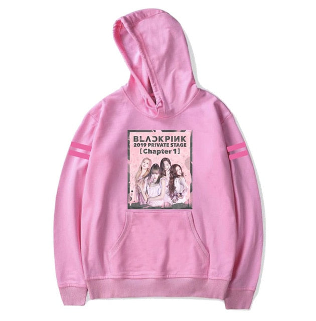 Fashion Pullovers Kpop BLACKPINK THE ALBUM JISOO JENNIE LISA ROSÉ Single Poster Hoodie Autumn Winter Long Sleeve Sweatshirts