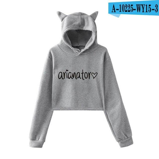 Kpop Newest Frdun Tommy 2018 NEW Ariana Grande hot fashion so trend sala Cat Crop Top Women Hoodies Sweatshirts Sexy Kpop Harajuku Plus Size that you'll fall in love with. At an affordable price at KPOPSHOP, We sell a variety of Frdun Tommy 2018 NEW Ariana Grande hot fashion so trend sala Cat Crop Top Women Hoodies Sweatshirts Sexy Kpop Harajuku Plus Size with Free Shipping.