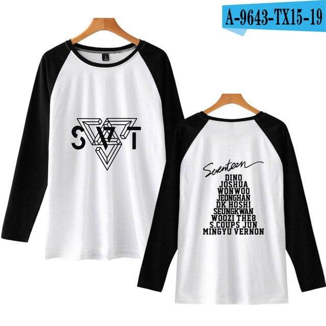 Kpop Newest Tommy SEVENTEEN New Album Fashion Print Tee Shirts Long Sleeve 201 Autumn Long Tshirt Women Fashion T-shirt Women 4XL that you'll fall in love with. At an affordable price at KPOPSHOP, We sell a variety of Tommy SEVENTEEN New Album Fashion Print Tee Shirts Long Sleeve 201 Autumn Long Tshirt Women Fashion T-shirt Women 4XL with Free Shipping.
