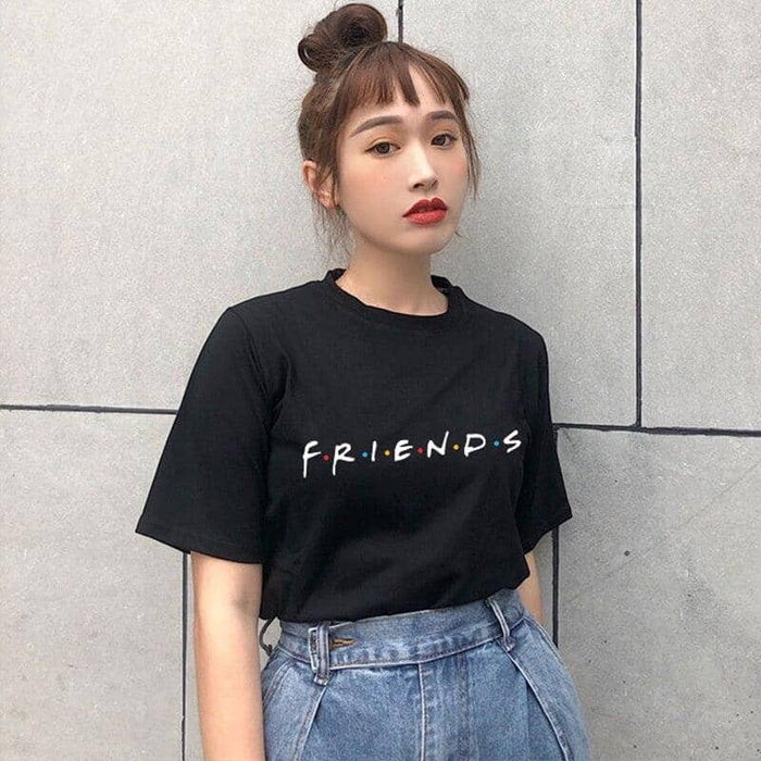 Kpop Newest Friends Letter Printed Womens T Shirt Harajuku Funny Fashion Friends Tshirt Women Stray Kids Short Sleeve Vogue Angel Shirt Tops that you'll fall in love with. At an affordable price at KPOPSHOP, We sell a variety of Friends Letter Printed Womens T Shirt Harajuku Funny Fashion Friends Tshirt Women Stray Kids Short Sleeve Vogue Angel Shirt Tops with Free Shipping.