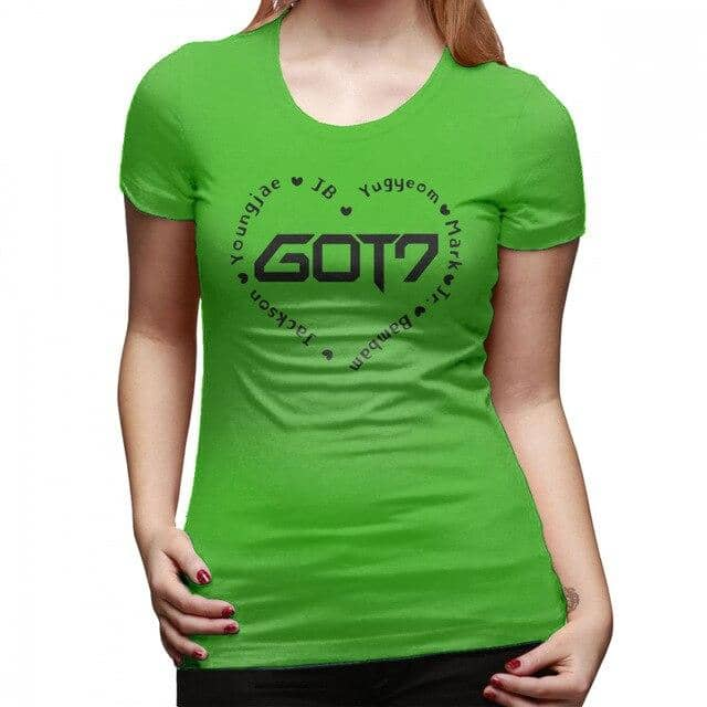 Kpop Newest Got 7 Kpop T-Shirt GOT7 Heart T Shirt Casual O Neck Women tshirt New Fashion Cotton Large Printed Short-Sleeve Ladies Tee Shirt that you'll fall in love with. At an affordable price at KPOPSHOP, We sell a variety of Got 7 Kpop T-Shirt GOT7 Heart T Shirt Casual O Neck Women tshirt New Fashion Cotton Large Printed Short-Sleeve Ladies Tee Shirt with Free Shipping.
