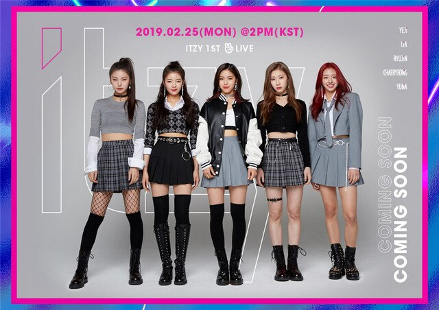 ITZY Kpop Posters Korean Singers White Coated Paper Prints Clear Image Home Decoration