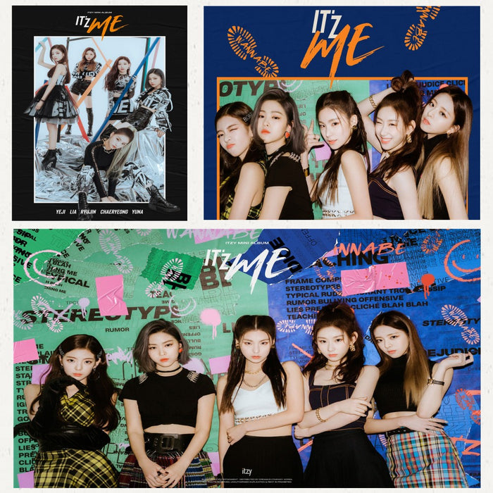 ITZY Kpop WANNABE Posters Korean Singers White Coated Paper Prints Clear Image Home Decoration wall stickers