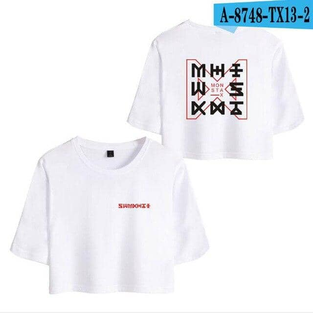 Kpop Newest K POP K-POP KPOP Monsta X Album Harajuku Crop Top T Shirt JOOHEON I.M YOOKIHYUN WONHO Cropped Short Sleeve Funny Tshirt Femme that you'll fall in love with. At an affordable price at KPOPSHOP, We sell a variety of K POP K-POP KPOP Monsta X Album Harajuku Crop Top T Shirt JOOHEON I.M YOOKIHYUN WONHO Cropped Short Sleeve Funny Tshirt Femme with Free Shipping.