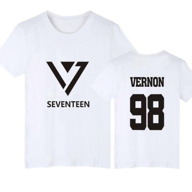 Kpop Newest K POP K-POP KPOP Seventeen T Shirt HOSHI JOSHUA WOOZI VERNON JEONGHAN Streetwear Hip Hop T-Shirt Women Tshirt Couple Clothes 4XL that you'll fall in love with. At an affordable price at KPOPSHOP, We sell a variety of K POP K-POP KPOP Seventeen T Shirt HOSHI JOSHUA WOOZI VERNON JEONGHAN Streetwear Hip Hop T-Shirt Women Tshirt Couple Clothes 4XL with Free Shipping.
