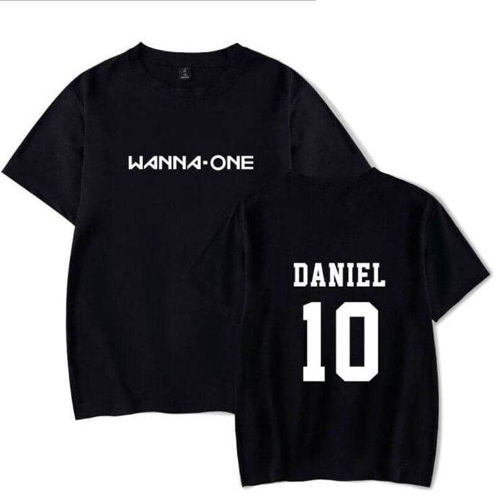 Kpop Newest K POP KPOP WANNA ONE Fans Supportive T Shirt For Women Men Cotton Short Sleeve Tshirt Couple Clothes Letter Print T-Shirt Femme that you'll fall in love with. At an affordable price at KPOPSHOP, We sell a variety of K POP KPOP WANNA ONE Fans Supportive T Shirt For Women Men Cotton Short Sleeve Tshirt Couple Clothes Letter Print T-Shirt Femme with Free Shipping.