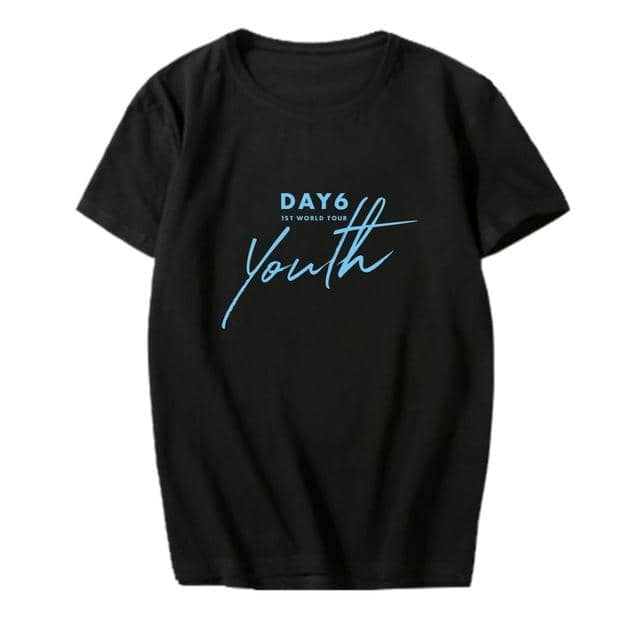 Kpop Newest K-pop DAY6 1ST WORLD TOUR <Youth> Concert Supporting Tshirt Kpop DAY6 Short Sleeve T-shirt Summer Cotton Tops Fans Collection that you'll fall in love with. At an affordable price at KPOPSHOP, We sell a variety of K-pop DAY6 1ST WORLD TOUR <Youth> Concert Supporting Tshirt Kpop DAY6 Short Sleeve T-shirt Summer Cotton Tops Fans Collection with Free Shipping.