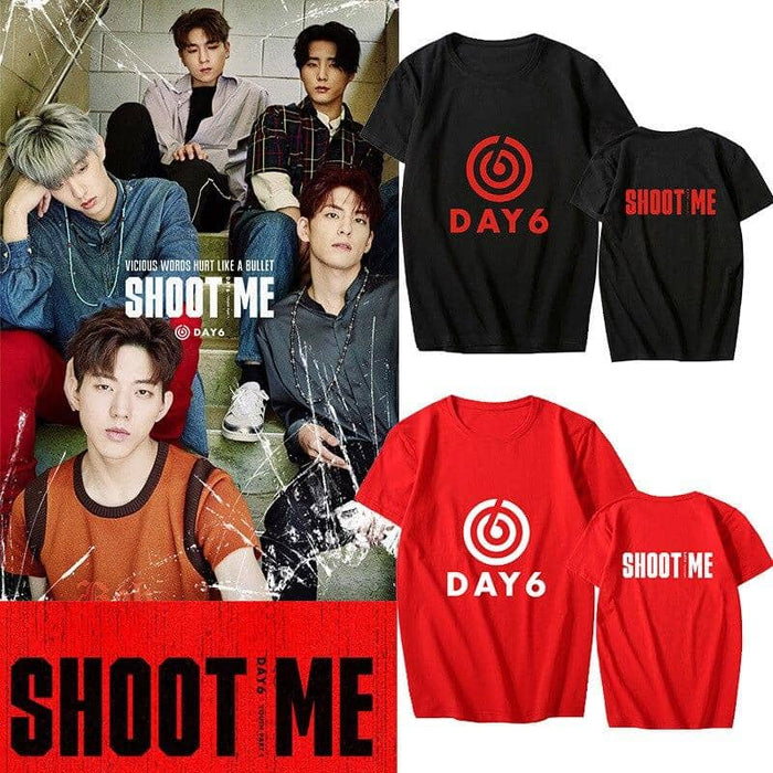 Kpop Newest K-pop DAY6 Album <Shoot Me : Youth Part 1> Supporting Tshirt Kpop DAY6 Short Sleeve T-shirt Summer Cotton Tops Fans Collection that you'll fall in love with. At an affordable price at KPOPSHOP, We sell a variety of K-pop DAY6 Album <Shoot Me : Youth Part 1> Supporting Tshirt Kpop DAY6 Short Sleeve T-shirt Summer Cotton Tops Fans Collection with Free Shipping.