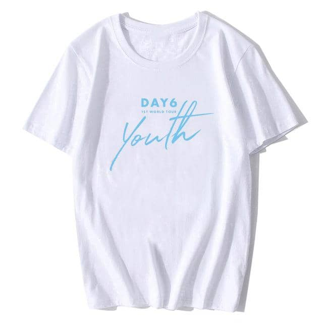Kpop Newest KPOP DAY6 1ST WORLD TOUR Youth O-Neck Cotton Hip Hop Korean Clothes Short Sleeve Tops Korean Style T-shirt that you'll fall in love with. At an affordable price at KPOPSHOP, We sell a variety of KPOP DAY6 1ST WORLD TOUR Youth O-Neck Cotton Hip Hop Korean Clothes Short Sleeve Tops Korean Style T-shirt with Free Shipping.