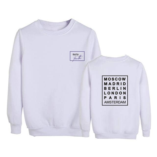 Kpop Newest KPOP DAY6 Youth in EUROPE Album Tour Round Neck Hoodies Long Sleeve Tops Pullovers Sweatshirt PT1042 that you'll fall in love with. At an affordable price at KPOPSHOP, We sell a variety of KPOP DAY6 Youth in EUROPE Album Tour Round Neck Hoodies Long Sleeve Tops Pullovers Sweatshirt PT1042 with Free Shipping.