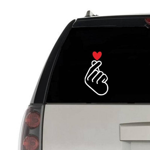 Kpop Newest KPOP Finger Heart Love Vinyl Art Sticker Car Window Decor , Cute Laptop Phone Decals for Apple MacBook Air / Pro Decoration that you'll fall in love with. At an affordable price at KPOPSHOP, We sell a variety of KPOP Finger Heart Love Vinyl Art Sticker Car Window Decor , Cute Laptop Phone Decals for Apple MacBook Air / Pro Decoration with Free Shipping.