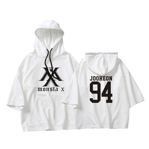 KPOP Korean MONSTA X I.M WONHO MINHYUK Loose Three Quarter Pullovers Hoode new Fans - Kpopshop