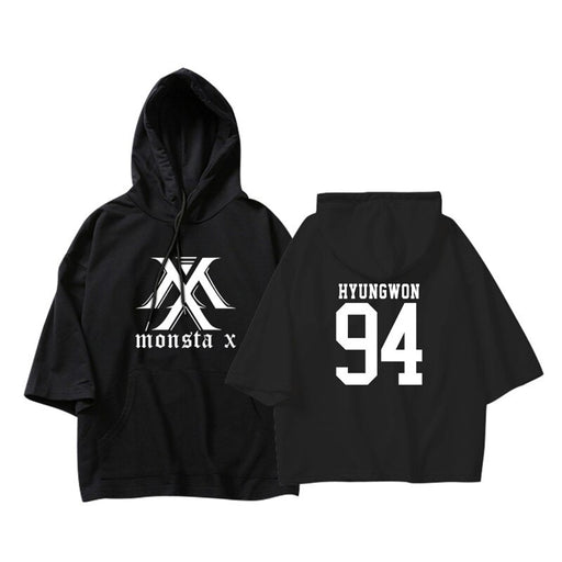KPOP Korean MONSTA X I.M WONHO MINHYUK Thin Three Quarter Pullovers Hoode Sweatshirt tshirts Fans  Coat - Kpopshop