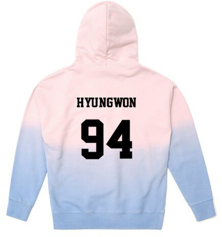 KPOP MONSTA X Concert With The Same Hoodie Thin Men And Women Spring And Gradient Coat - Kpopshop