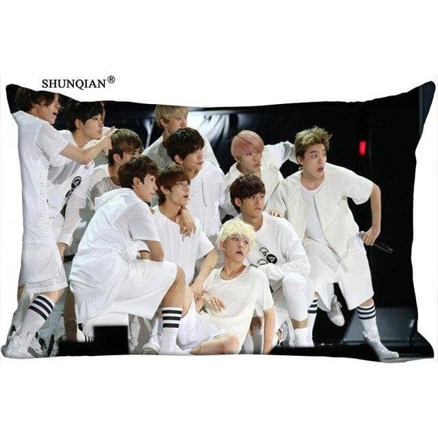 Kpop Newest KPOP Seventeen printed rectangular pillowcase Fashion Decorative two sided printing satin pillow cover Custom your image gift that you'll fall in love with. At an affordable price at KPOPSHOP, We sell a variety of KPOP Seventeen printed rectangular pillowcase Fashion Decorative two sided printing satin pillow cover Custom your image gift with Free Shipping.