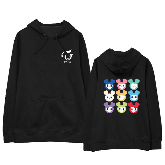 KPOP TWICE LOVELYS Album Hoodie Hip Hop Casual Loose Hooded Clothes Pullover Long Sleeve Sweatshirt tshirts - Kpopshop