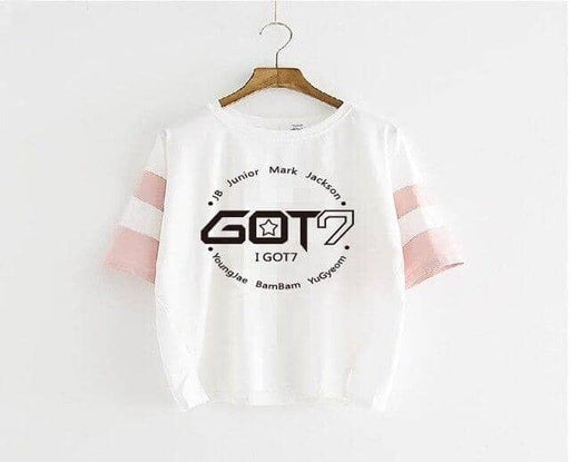 Kpop Newest KPOP fashion GOT7 + The member name 2019 new GOT7 Jackson Wang Blue sleeve pink sleeve T-shirt Short sleeve student Loose coat that you'll fall in love with. At an affordable price at KPOPSHOP, We sell a variety of KPOP fashion GOT7 + The member name 2019 new GOT7 Jackson Wang Blue sleeve pink sleeve T-shirt Short sleeve student Loose coat with Free Shipping.