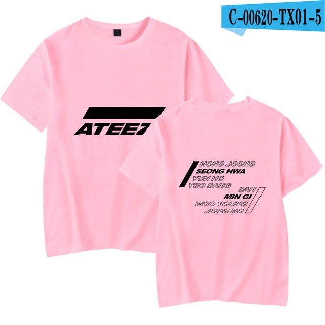 Korea KPOP ATEEZ Men Women Hip Pop Funny Graphic Tees Tops Instagram - Kpopshop