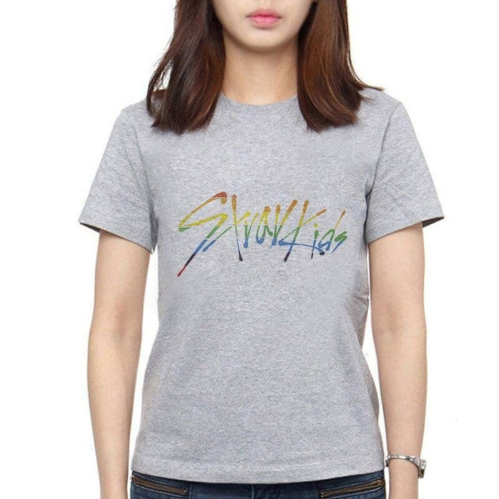 Kpop Newest Korean Clothes Short Sleeve T Shirt Women Aesthetic Straykids Letter Printing Fashion Plus Size Women Stray Kids Tee Shirt Femme that you'll fall in love with. At an affordable price at KPOPSHOP, We sell a variety of Korean Clothes Short Sleeve T Shirt Women Aesthetic Straykids Letter Printing Fashion Plus Size Women Stray Kids Tee Shirt Femme with Free Shipping.