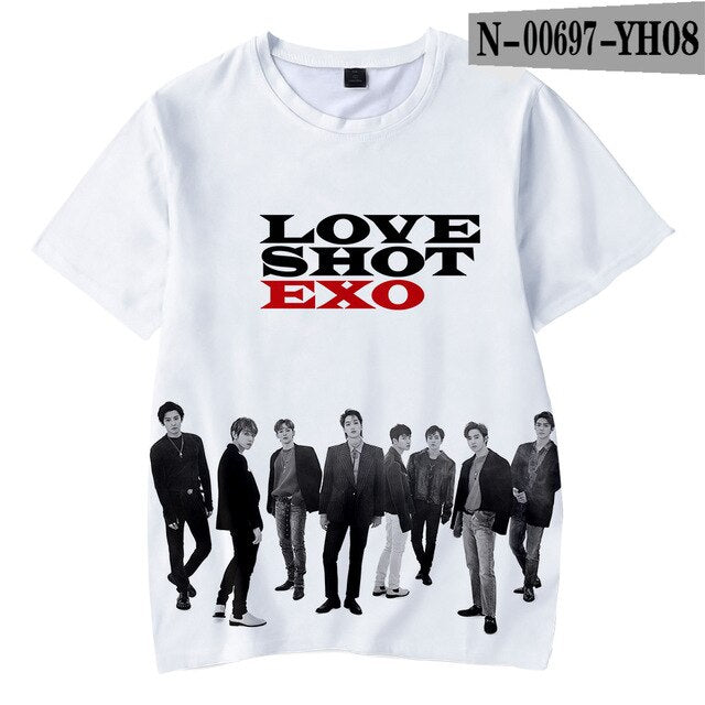 Kpop Bang Store EXO Love Shot 3D Children T-shirts Tshirts Kids Wear - Kpopshop