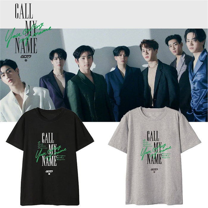 Kpop GOT7 Fashion Call My Name Album Shirts Hip Hop Streetwear Loose Clothes Tshirt T Shirt Short Sleeve Tops T-shirt - Kpopshop