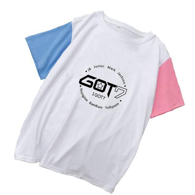 Kpop Newest Kpop GOT7 Summer cotton T-shirt Women Harajuku splice tshirt 2019 new korean Casual Short Sleeve O-Neck T shirt women clothes that you'll fall in love with. At an affordable price at KPOPSHOP, We sell a variety of Kpop GOT7 Summer cotton T-shirt Women Harajuku splice tshirt 2019 new korean Casual Short Sleeve O-Neck T shirt women clothes with Free Shipping.