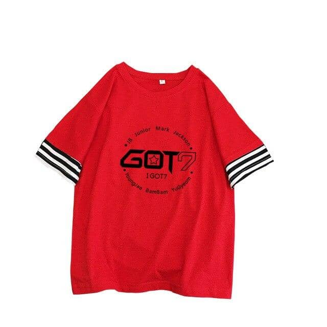 Kpop Newest Kpop GOT7 splice stripe Women T shirts New wild student tops korean Summer Short Sleeve T-shirt female loose casual Tee shirt that you'll fall in love with. At an affordable price at KPOPSHOP, We sell a variety of Kpop GOT7 splice stripe Women T shirts New wild student tops korean Summer Short Sleeve T-shirt female loose casual Tee shirt with Free Shipping.
