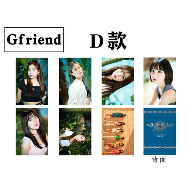 Kpop Gfriend Self Made HD Photograph Right Angle Photocard Collective Cards 7pcs/set