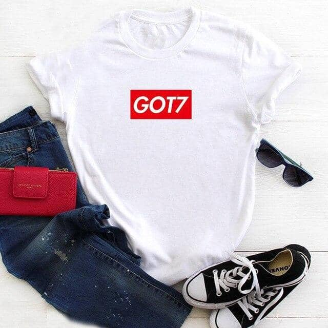 Kpop Newest Kpop Got7 T Shirt Women Eyes on You I Got7 Trendy Korean Fashion Tee Mark JB Jackson Jinyoung Youngjae BamBam Yugyeom K-pop Tops that you'll fall in love with. At an affordable price at KPOPSHOP, We sell a variety of Kpop Got7 T Shirt Women Eyes on You I Got7 Trendy Korean Fashion Tee Mark JB Jackson Jinyoung Youngjae BamBam Yugyeom K-pop Tops with Free Shipping.