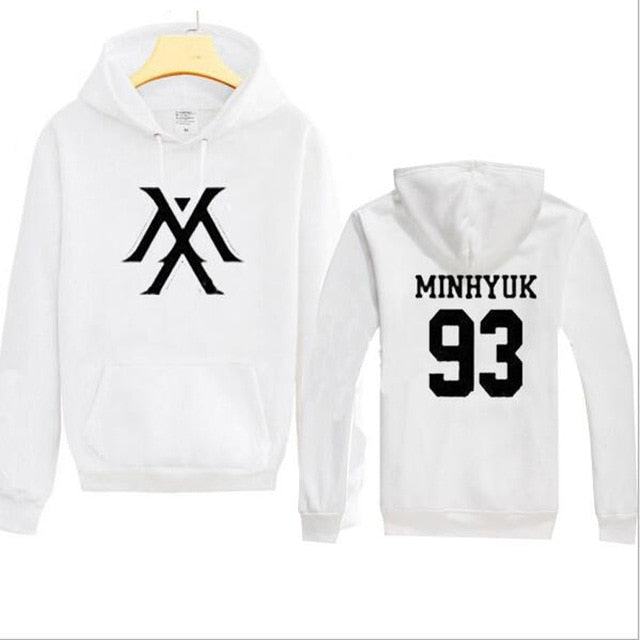 Kpop Monsta X Women Men  Sweatshirt K-pop Wonho YOOKIHYUN  I.M jooheon Fleece Hooded Tracksuit 4XL - Kpopshop