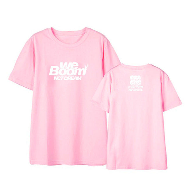 Kpop NCT DREAM We Boom Album Shirts Streetwear Loose Tshirt T Shirt Short Sleeve Tops T-shirt - Kpopshop