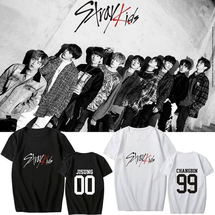 Kpop Newest Kpop STRAY KIDS T Shirts Concert Same Cotton Black White Tshirt Tee Short Sleeve Fashion Summer Tops that you'll fall in love with. At an affordable price at KPOPSHOP, We sell a variety of Kpop STRAY KIDS T Shirts Concert Same Cotton Black White Tshirt Tee Short Sleeve Fashion Summer Tops with Free Shipping.
