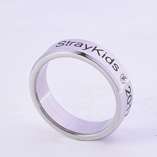 Kpop Stray Kids Alloy Ring Simple Fashion style Ring