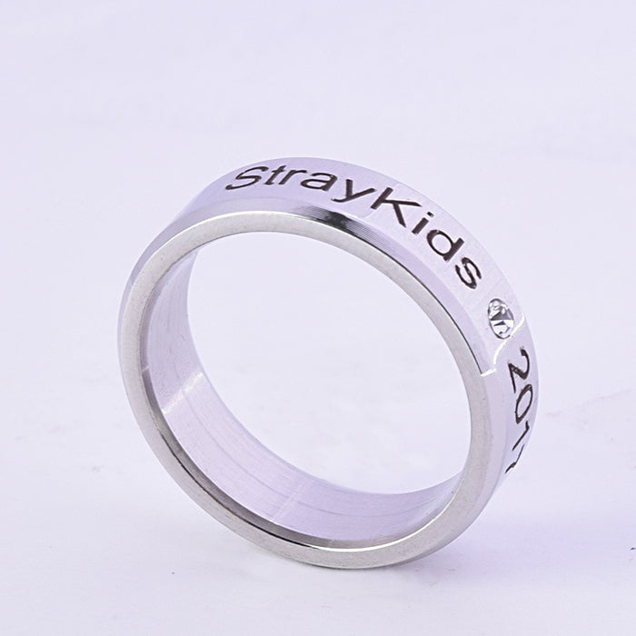 Kpop Stray Kids Alloy Ring Simple Fashion style Ring - Kpopshop