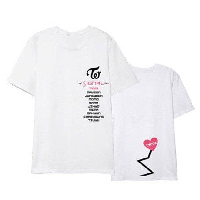 Kpop Newest Kpop TWICE SIGNAL Album Shirts K-POP Casual Cotton Clothes Tshirt T Shirt Short Sleeve Tops T-shirt DX440 that you'll fall in love with. At an affordable price at KPOPSHOP, We sell a variety of Kpop TWICE SIGNAL Album Shirts K-POP Casual Cotton Clothes Tshirt T Shirt Short Sleeve Tops T-shirt DX440 with Free Shipping.