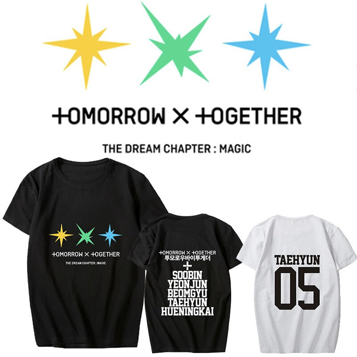 Kpop TXT Album -The Dream Chapter: MAGIC T-shirt Soobin HUENINGKAI Tops Tee New