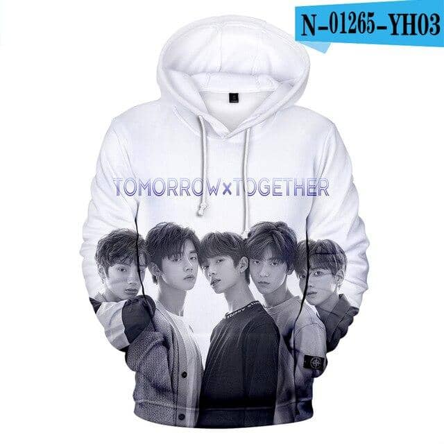 Kpop Newest Kpop TXT TOMORROW X TOGETHER Group Logo YEONJUN 3D Print Hoodies Sweatshirt Long Sleeve Harajuku Women/men Sweatshirts that you'll fall in love with. At an affordable price at KPOPSHOP, We sell a variety of Kpop TXT TOMORROW X TOGETHER Group Logo YEONJUN 3D Print Hoodies Sweatshirt Long Sleeve Harajuku Women/men Sweatshirts with Free Shipping.