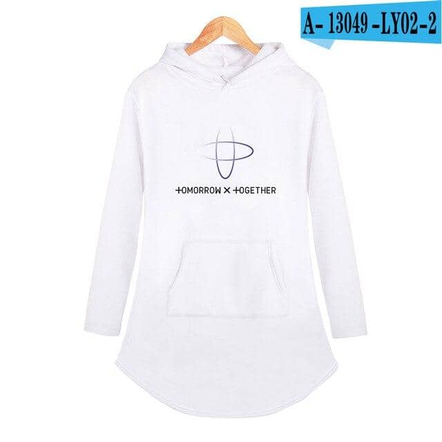 Kpop Newest Kpop TXT tomorrow together Tops Personality Sport Casual Hoodie Dress Summer Fashion Woman Party Night Long Square Up Streetwear that you'll fall in love with. At an affordable price at KPOPSHOP, We sell a variety of Kpop TXT tomorrow together Tops Personality Sport Casual Hoodie Dress Summer Fashion Woman Party Night Long Square Up Streetwear with Free Shipping.