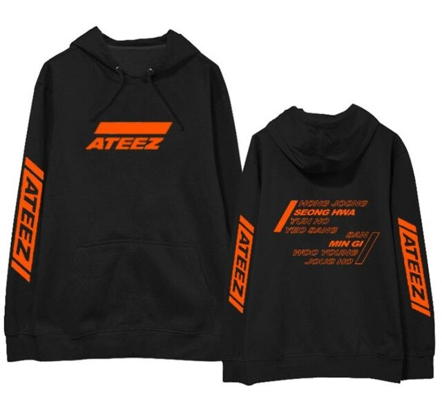 Kpop ateez fans supportive pullover loose unisex fleece/thin Sweatshirt 4 styles 5 colors - Kpopshop