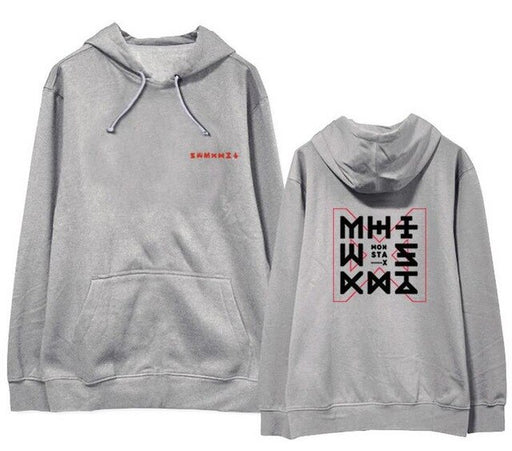 Kpop monsta x concert the code same pullover fleece/thin supportive loose Sweatshirt 4 colors - Kpopshop